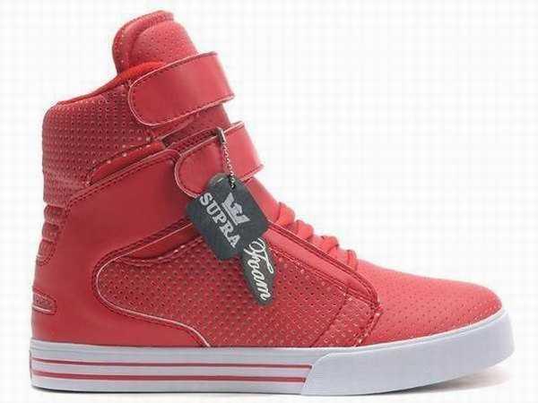 50315b5f55648 chaussure supra rouge